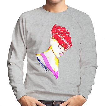 Rihanna With Red Hair Men's Sweatshirt