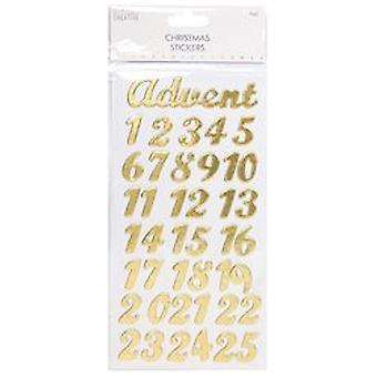 Trimcraft Simply Creative Christmas 3d Stickers – Advent Gold Foil
