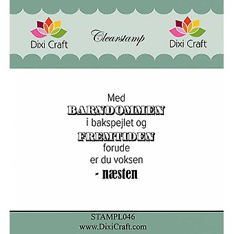 Dixi Craft Danish Text 1 Clear Stamps