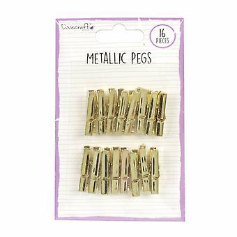 Dovecraft Metallic Pegs Gold