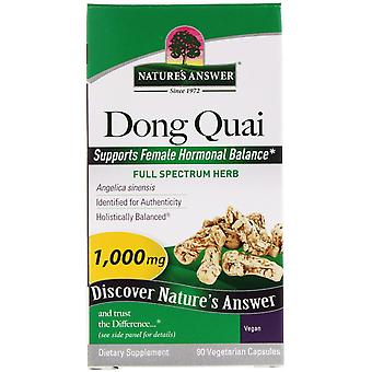 Nature's Answer, Dong Quai, 1.000 mg, 90 Vegetarische Capsules