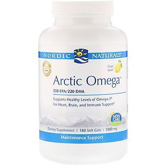 Nordic Naturals, Arctic Omega, Lemon , 1,000 mg, 180 Soft Gels