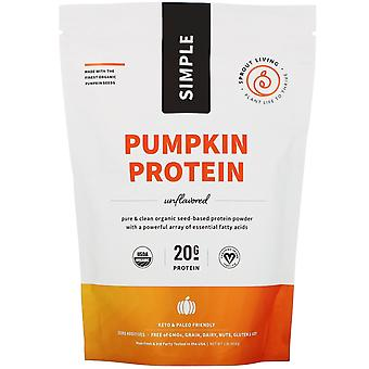 Sprout Living, Simple Protein, Organic Plant Protein, Pumpkin Seed (Unflavored),
