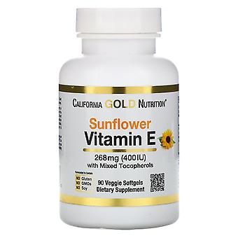 California Gold Nutrition, Sunflower Vitamin E, with Mixed Tocopherols, 400 IU,