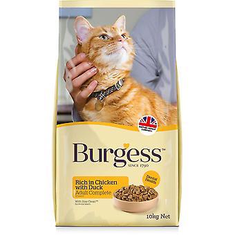 Chat adulte Burgess - Poulet & Canard - 10kg