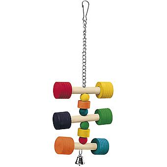 Ferplast Pa 4091 Závesné drevené papagáj hračky (11.5x3.5x31cm)