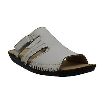 Naturalizer Womens Serene Leather Open Toe Casual Slide Sandals