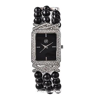 GENUA Japanse beweging Crystal Studded Water Resistant Shungite Bracelet Watch