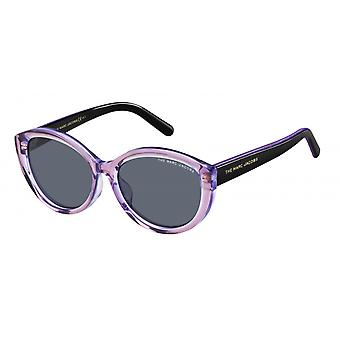 Sunglasses Women's Cat-Eye black/purple transparent