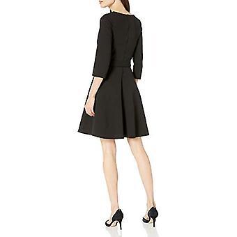 Lærke & Ro Kvinder's Tre Kvart ærme flare kjole, sort, lille