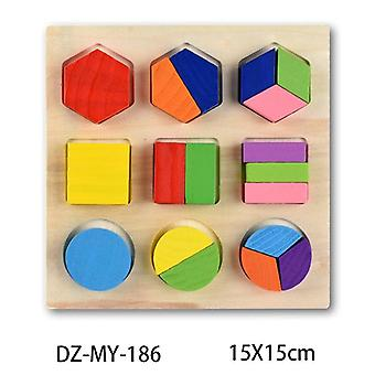 Copii 3d Geometrie Forma Cogniției Lemn Puzzle-Early Learning Educational