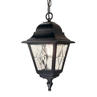 Elstead Norfolk - 1 lys utendørs takkjede lanterne svart IP43, E27