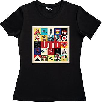United Collage Negro Mujer's Camiseta