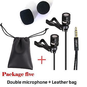 Portable Clip-on Lapel Lavalier Microphone 3.5mm Jack Hands-free Mini Wired
