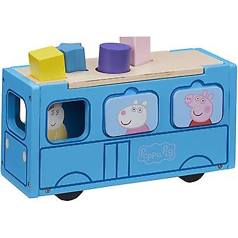 Peppa Pig Wooden School Bus
