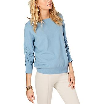 INC | Ruched 3/4 Sleeves Pullover Sweater
