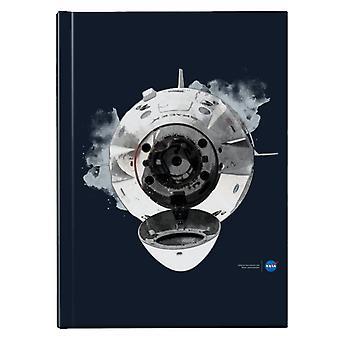 NASA SpaceX Dragon -kapselin telakointi hardback-päiväkirja