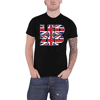 Led Zeppelin T Shirt Union Jack Type Band Logo new Official Mens Black