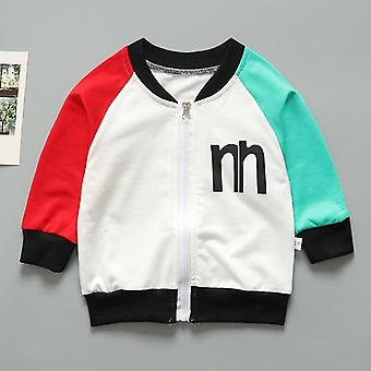 Baby Spring And Autumn Jacket Kids Round Collar Fashion Coat Baby's Long Sleeve