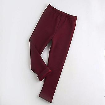Winter Girls Leggings Cotton Plus Thick Velvet Warm Pants 2-8 Years Children's Pants