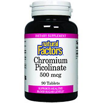 Natural Factors Chromium Picolinate, 500 mcg, 90 Tabs
