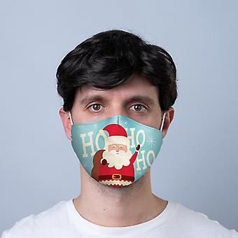 هو هو هو عيد الميلاد سانتا إعادة الاستخدام تغطية الوجه - كبير