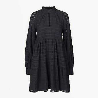 Stine Goya  - Jasmine - Gingham Short Dress - Black