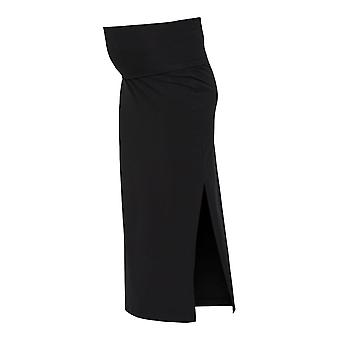 Women Maxi Skirt Slit Slim Fit Casual Design Mamalicious Belly Insert Stretch