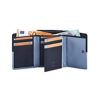 Primehide Womens Small Trifold Leather Purse RFID Blocking Wallet Ladies 6100