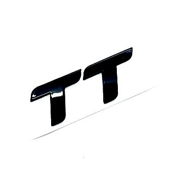 Gloss Black Audi TT Badge Letters Front Grill Bonnet Badge Emblem Bonnet Rear Bootlid Emblem Stick On