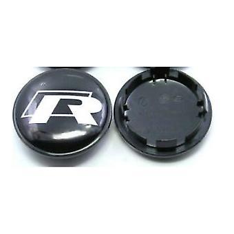 Black/Silver VW Volkswagen R-Line Wheel Center Cap Hub Badge 65mm 1 PCS For Golf Jetta Passat Tiguan Beetle CC EOS
