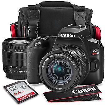 Canon eos rebel sl3 dslr digital camera with 18-55mm lens + 64gb + cases + tripods + premium accessory bundle