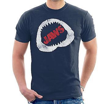 Jaws Bite Röd Text Män's T-shirt