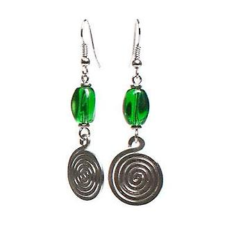 Spiral And Bead Drop Women Musical Earrings Coil African Earrings