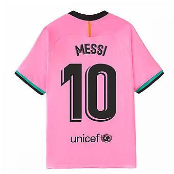 2020-2021 Barcelonan höyryottelu Kolmas Nike-paita (MESSI 10)