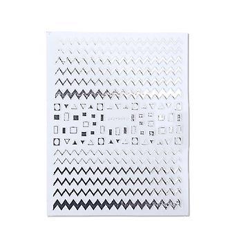 3D nail art samolepky-rovný, zakrivené, vlny vložky prúžok