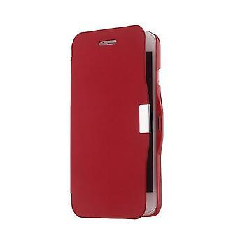 磁気フリップ PU レザー ハードスキン ウルトラスリムポーチ ウォレット ケース カバー 保護 シェル 5.5