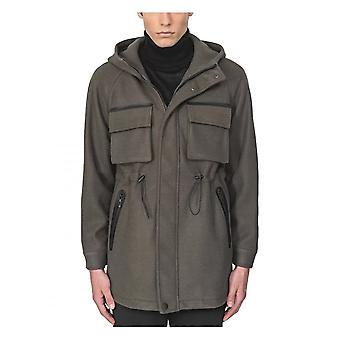 Antony Morato Regular Fit Woolen Knit Coat Vert