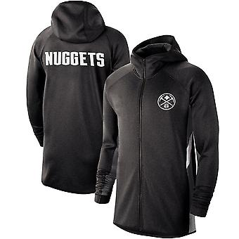 Denver Nuggets Heathe Showtime Therma Flex Performance Full-zip Hoodie