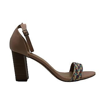 Madden Girl Womens Beella Fabric Open Toe Ankle Strap Classic Pumps