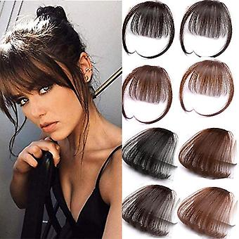 Clip de 6 pulgadas en hair Bangs Hairpiece - Sintético falso Bangs Clip en el pelo