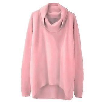נשים סוודרים גדולים, חורף לא סדיר סרוגים מעילים, שרוול ארוך