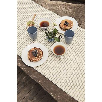 Diamond Guanabana Cream y Dark Green Table Runner (medio)