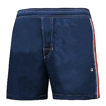 """Maru Mens Kube Swimming Shorts 14"""" Beach Trunks Navy MS4396"""