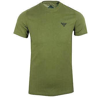 Barbour beacon men's military olive small logo t-shirt