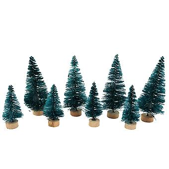 Dolls House 8 Kerst Conifer bomen Miniatuur Garden Scene Accessoire