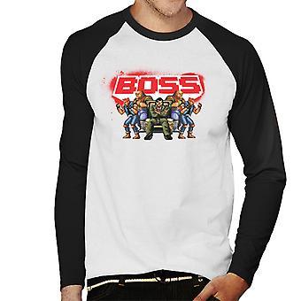 Sega Streets Of Rage Boss Men's Baseball camiseta de manga larga