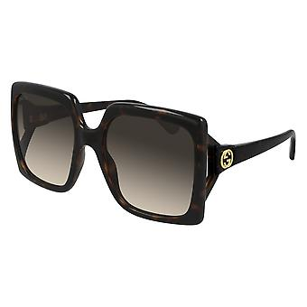 Gucci GG0876S 002 Havana/Brown Gradient Sunglasses