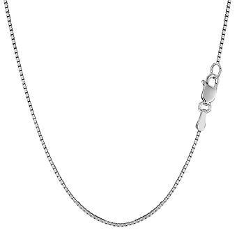 Collana di catena 10 del Box specchio oro solido bianco k, 1.0mm