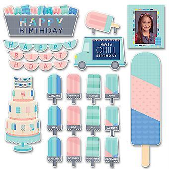 Ruhig & cool alles Gute zum Geburtstag Mini Bulletin Board